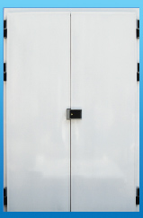 Распашные двухстворчатые двери серии «Эконом»